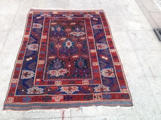 Antique Anatolian Döşeme Altı Carpet perfect original piece size 156x120