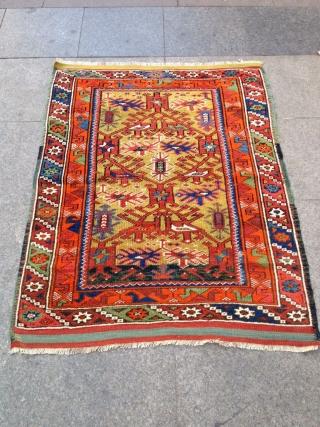 Antique Anatolian Döşeme Altı Carpet Size 116x96