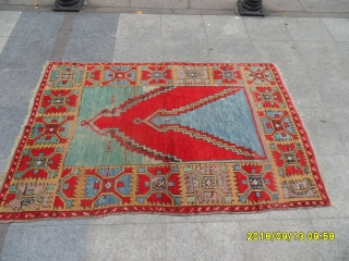 Antique Capadocia Double Prayer Carpet size:186x126