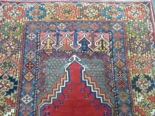 Antique Anatolian Mucur Carpet Size 160x122