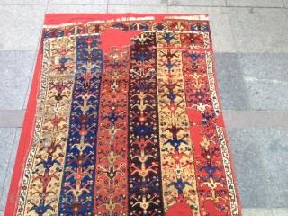 Antique Anatolian Karapınar Runner Carpet Size 290x101