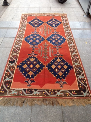 Antique Avvar Kilim perfect Size 305-145