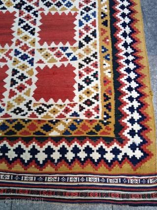 Antique Qashqai Kelim Shiraz Size 245-150