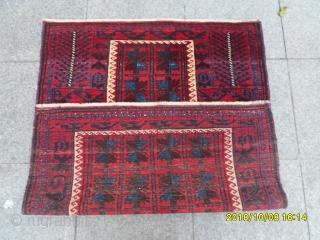 Antique Türkmen Prayer Belüç Carpet size: 115x90
