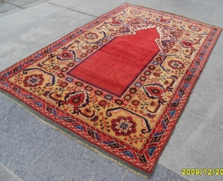 Antique Transilvanya Tuduk Prayer Carpet size: 195x130 cm.