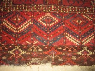 Tekke Ensi mid 19th century unusual design great colors 4X4'8