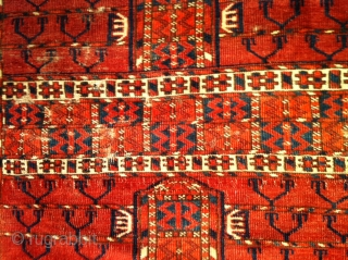 Tekke ensi mid 19th century or earleyer nice archaic design great colors 