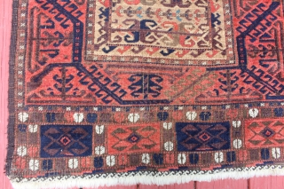 Unusual Boluch Small rug camel hair grate color 2'7X4'7