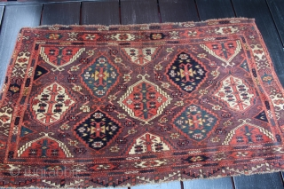 Mid 19th century Chador with great color and  unusual yellow in it. size 3'11X2'3
