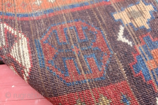 Central Anatolian Rug 1860s full pile 4'4X5'8