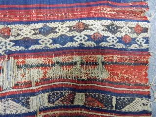 Antique West Anatolian Bergama Kilim Fragment   www.anatolianpicker.com
