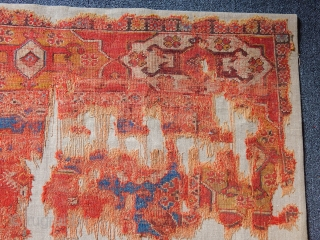 Antique Transylvanian Carpet Fragment 