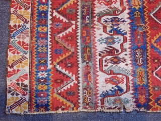 Antique West Anatolian Melas Rug Fragment