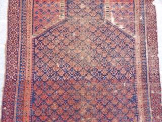 Antique Baluch Doktargazi Prayer Rug