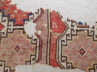 Antique Konya Obruk Carpet Fragment