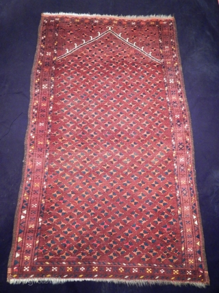 Antique Uzbek Prayer Rug