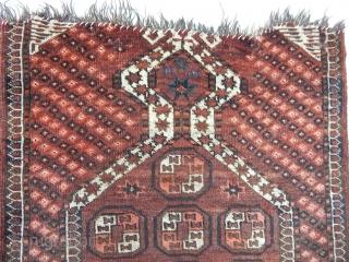 Antique Turkmen Ersari Prayer Rug