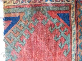Antique Anatolian Carpet Fragment Mid 17th century  Size.40x110cm