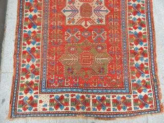 Old Fahrola Kazak Carpet size.255x155cm
