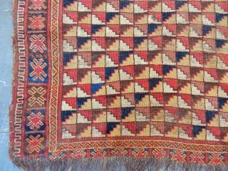 Antique Turkmen Ersari Besir Carpet size.177x100cm