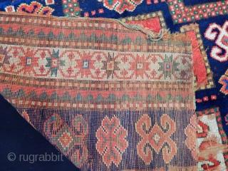 Old Caucasian Karacop Kazak Fragment size.115x115cm