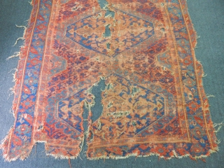 Antique 18th Century Ushak Fragment Carpet size.340x230cm