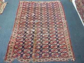 Antique Turkmen Chador Main Carpet