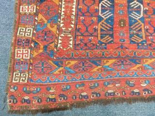 Old Turkmen Ersari Ensi Carpet
