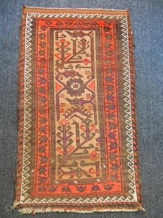 Antique Baluch Carpet size.107x70cm