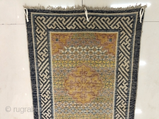 Chinese Ningxia rug, 160*72cm. about 200years old. full of bright and beautiful money coin veins.