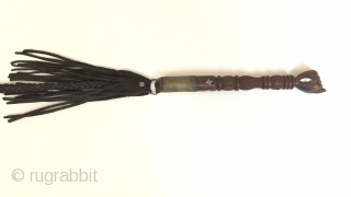 Central-Asia Afghanistan Antique Leather old wood Hand fist whip on the stone pearl collectible whip best condition Circa-1900 Lenght ''77''cm Thank you for visiting my rugrabbit store!