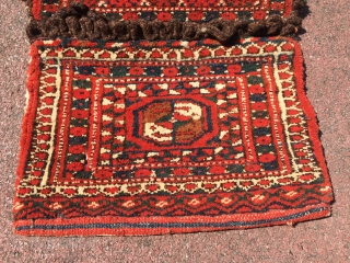 Turkmen old saddle-bag Size : 43 x 23 cm Thank you for visiting my rugrabbit store!