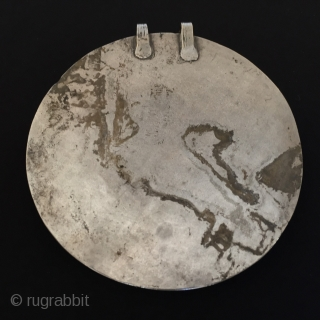 Central-Asia Turkmen-Ersary very fine condition antique tribal silver pendant with cornalian Circa-1900 Size : '12cm x 12cm' - Circumference : 36cm - Weight : 123gr Thank you for visiting my rugrabbit store  ...
