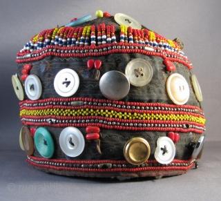 Pakistani Kohistani Child's Hat, Buttons, Key Chains, Glass Beads, Etc