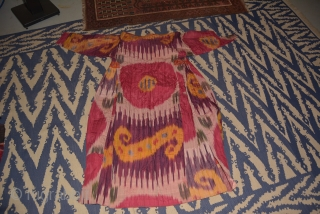 Offering a group of 67 Central Asian embroideries and costume, including ikat.  Everything was purchased in Afghanistan in the early 1970s and put into storage a few years later. (A real  ...