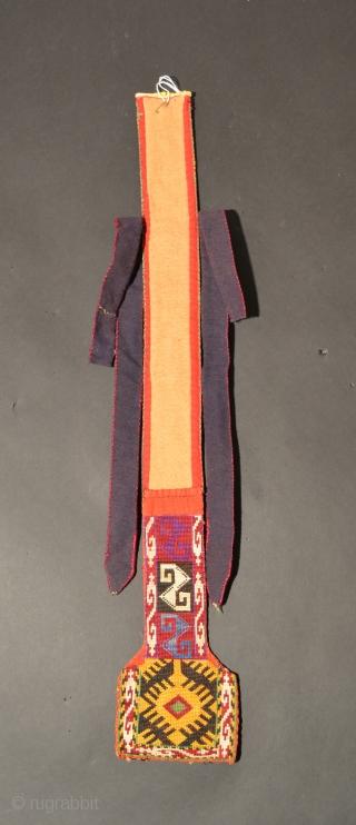 Uzbek Satch Khalta, Silk/Cotton, Early 20th Century, 27.7 x 4.7