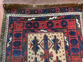 Sweet Baluch tree design  balisht ca 1880 camel ground lovely colour and spacing original back