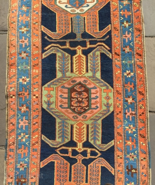 Lovely antique Heriz runner in excellent  ready to go condition dated 133