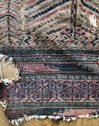 Antique Baluch camel ground sofreh size 82 x 123 Great example