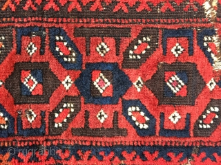 Early Baluch rug with great colour and velvety wool mid 19 c size 174 x 101 cm