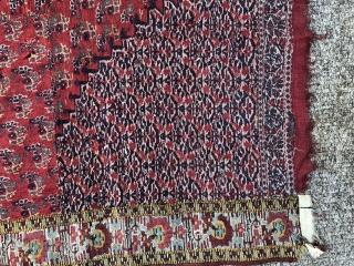 Antiqu 19 cKashmir moon shawl fragment