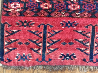 Early Ersari or MAD chuval with rare design mid 19 c or earlier.