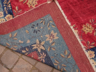 Antique Chinese Peking Carpet  Some wear  11 ft 5 in x 8 ft 8 in  Approx  3,5 X 2,7 m