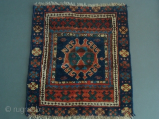 A Very Unusual Jaff Bag Face. I cannot recall ever seeing this medallion and this typical Jaff border together on the same piece. Measures 21 inches by 24 inches. This piece has  ...