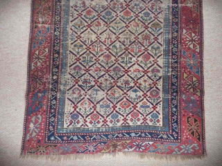 SOLD Shirvan prayer rug c.1850 ; 5ft2ins. x 2ft9ins. An early and beautiful rug.