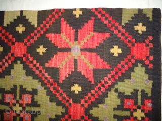 Vintage handmade swedish rug. Excellent condition. Size .5.4 × 2.1 feet.