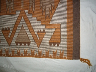 Vintage Navajo raised outline rug.