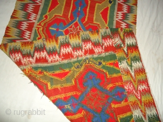 Antique Swedish Wall Tapestry Rölakan| Kelim. Size 115cm by 54cm.