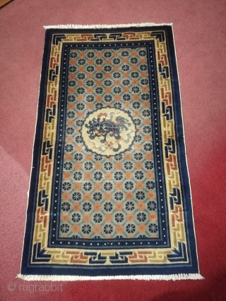 Antique Chinese carpet.