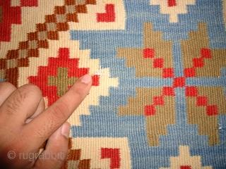 Handmade Bessarabian Kilim. Excellent condition. Size 4 by 3.6 feet.